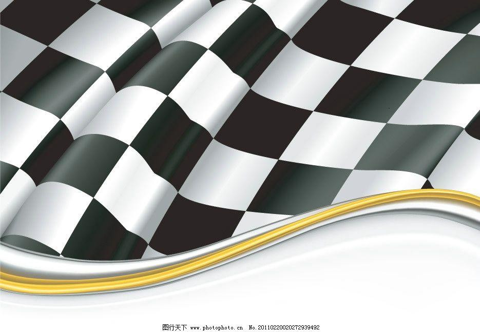 黑白格子动感线条背景图片