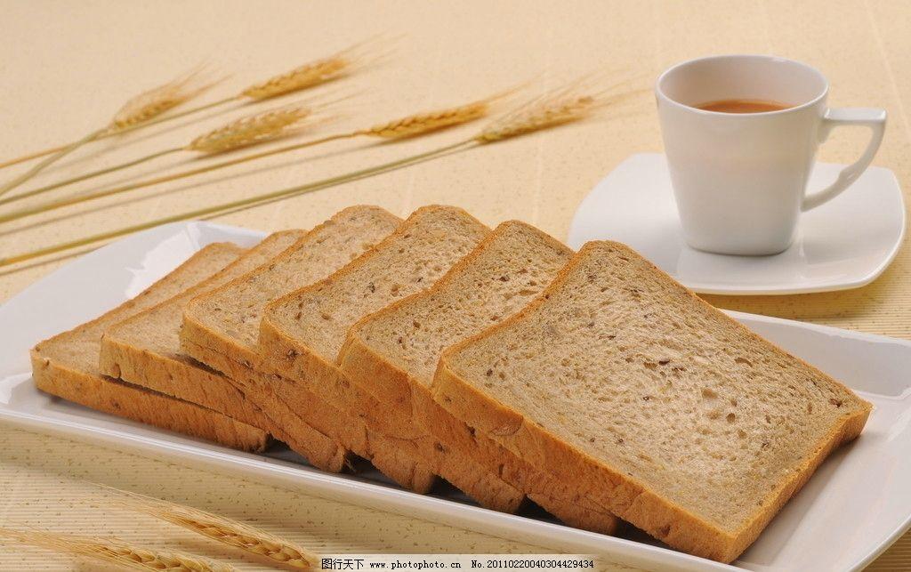 杂粮吐司 面包矢量图 食物原料 摄影