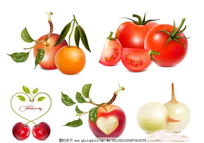 水果与蔬菜矢量素材图片