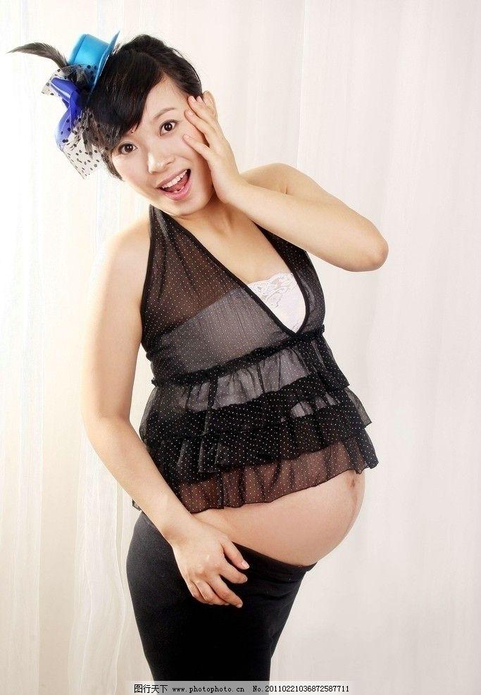 怀孕大肚子可爱图片