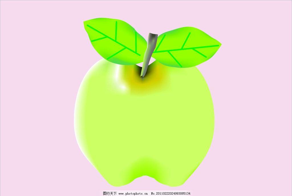水果 苹果 叶子 绿色 粉色 海报 板报 展板 背景      生物世界 矢量
