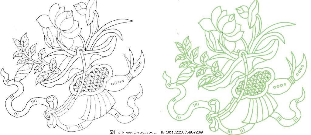 矢量底纹 艺术 文化 瓷器纹饰 古瓷纹饰 中国吉祥 图案 富贵长寿 多福
