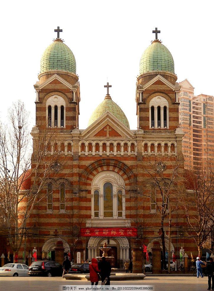 西洋建筑 欧式建筑 宗教建筑 罗曼风格 天主教 教堂 教会 十字架 塔