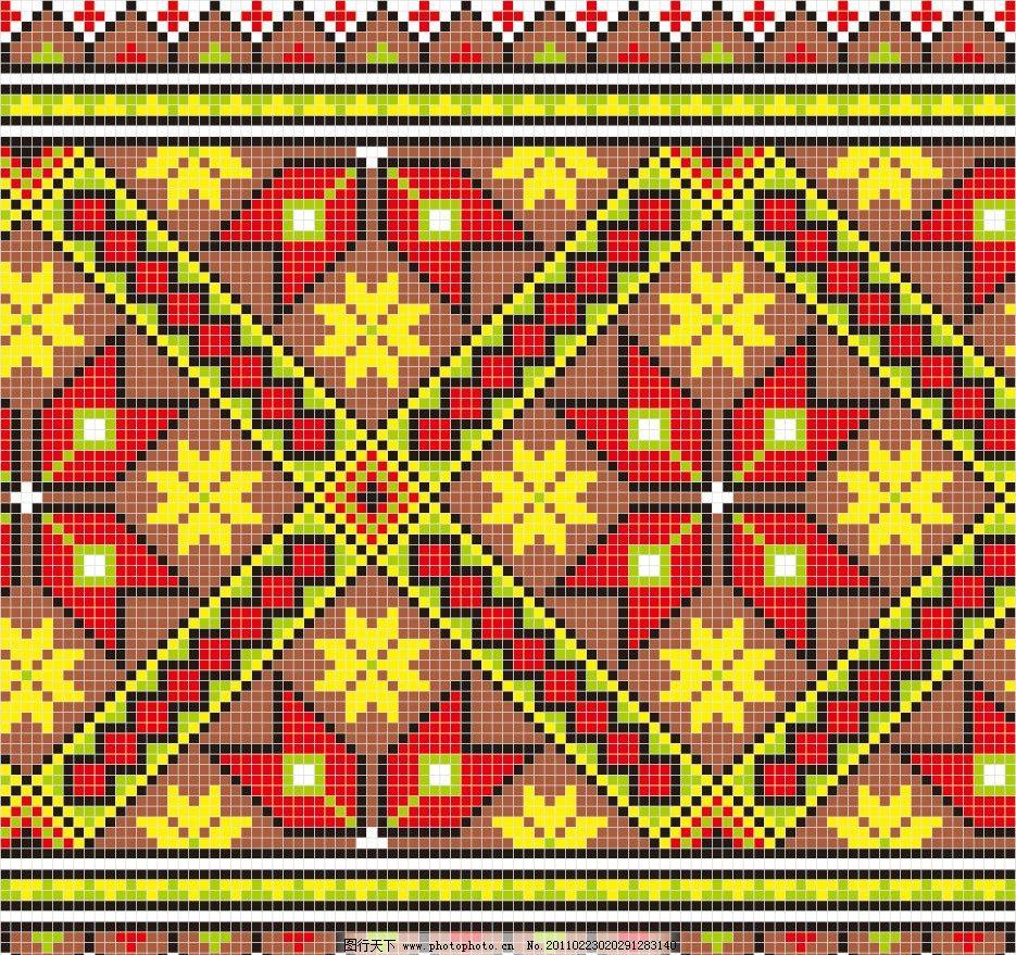 欧式刺绣地毯无缝花纹花边底纹图片