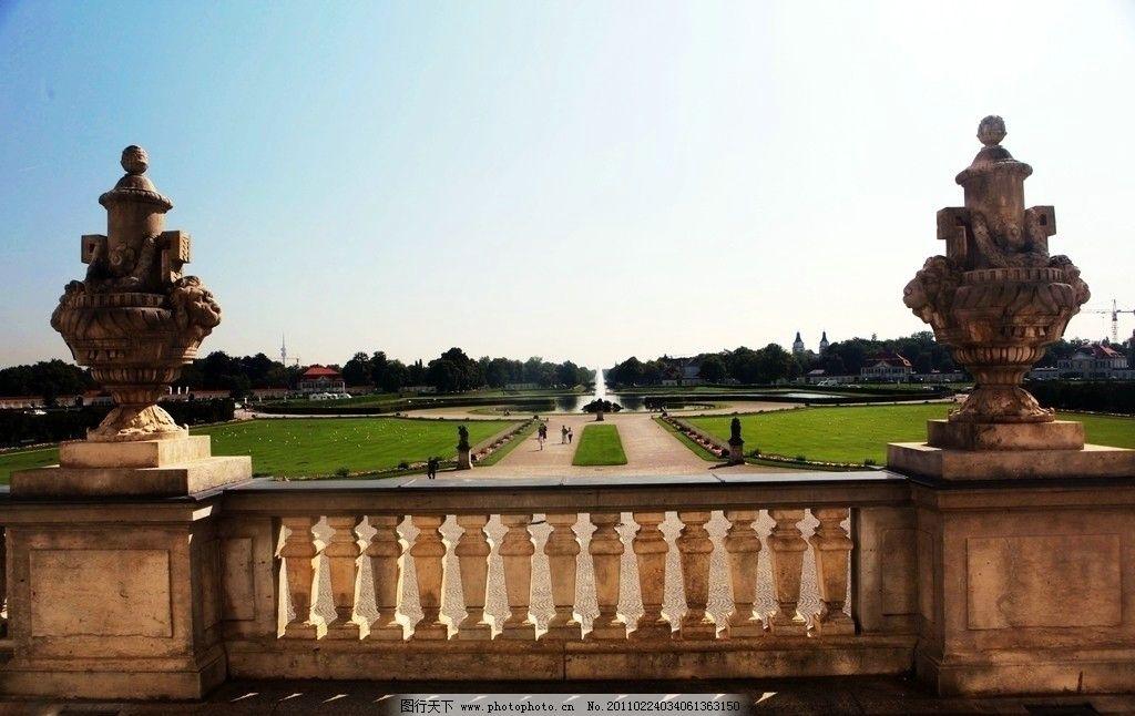 慕尼黑 德国 宁芬堡宫 历史古城 建筑 房屋 蓝天 树木 德国风光 国外