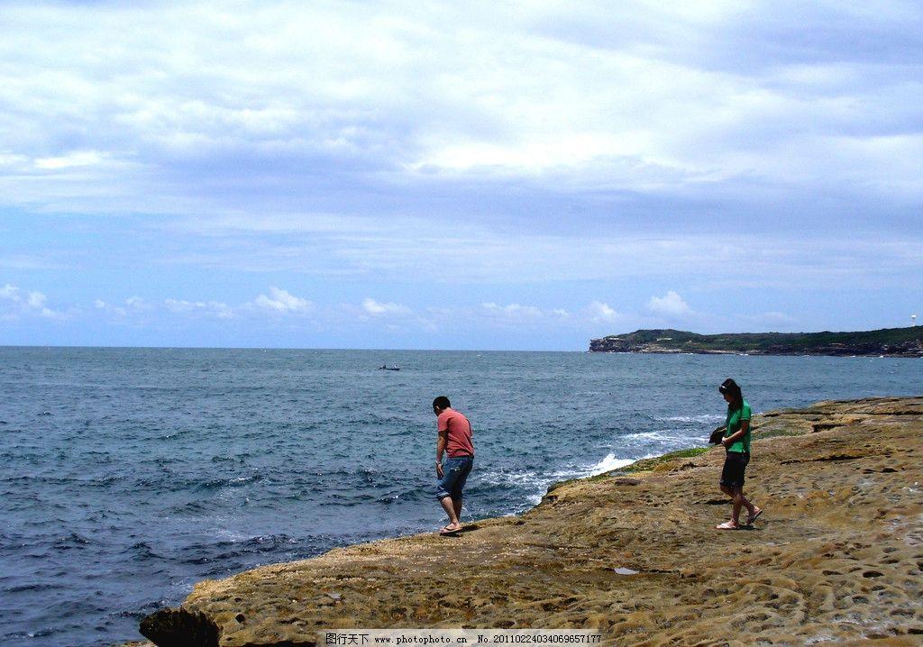 魅力大海 海岸 海 海浪 岸边 大海 蓝天 旅游摄影 国外旅游 摄影图库