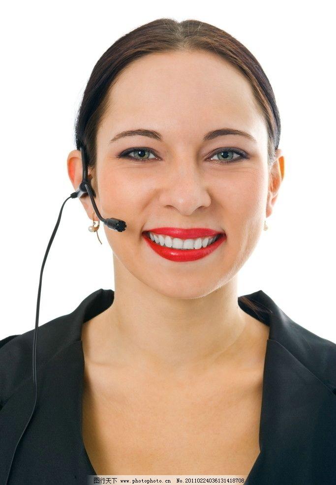 超大高清话务员 话务员 话务美女 话务小姐 客服代表 接线员 微笑服务