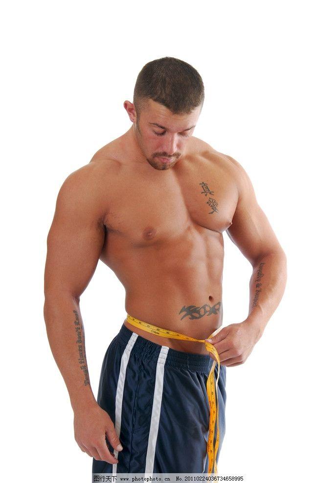 肌肉男 强壮的男人 酷男 皮尺 尺子 瘦身 健壮 肌肉 健美 强壮 力量 壮汉 人体 模特 时尚 身材 健康 男人 男士 男性 欧美男性 国外男人 外国男性 健美体魄 成熟男人 男性高清图片 男性男人 人物图库 摄影 300DPI JPG
