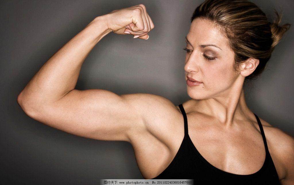 健美肌肉女写真_成熟女人 强壮的女人 锻炼 运动 健身 健壮 肌肉 健美 酷女