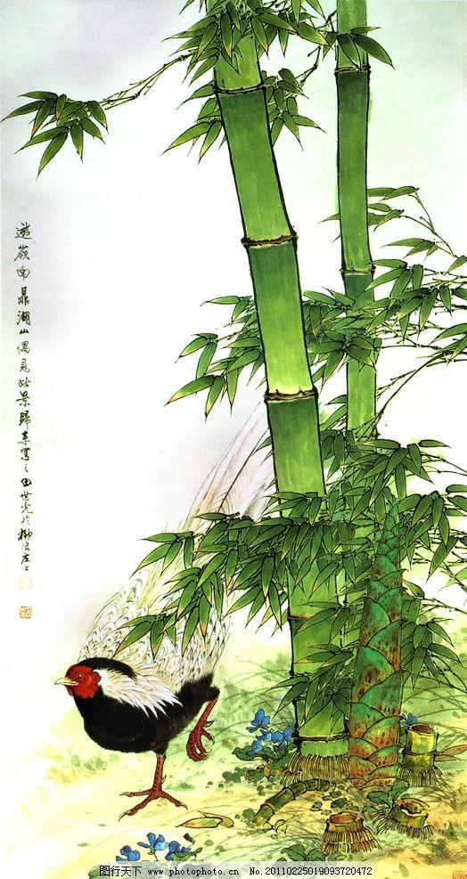 竹子 玄关 工笔画 绘画书法 文化艺术 设计 72dpi jpg