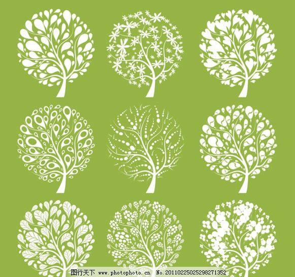 植物 图标 矢量素材 矢量图标 小图标 标识标志图标 矢量 eps 树木