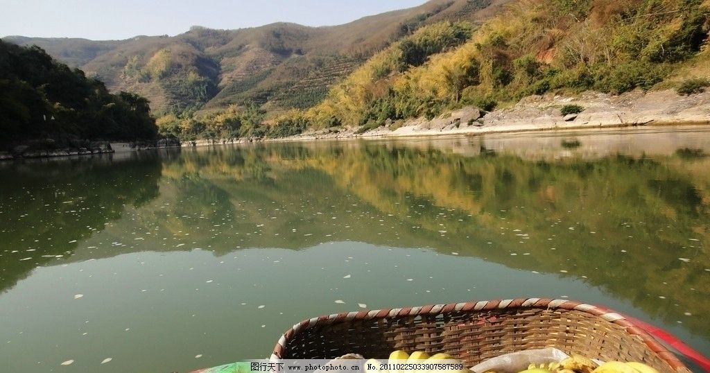 澜沧江畔 云南风光 西双版纳 江水 江面 热带水果 山水 树林 山水风景