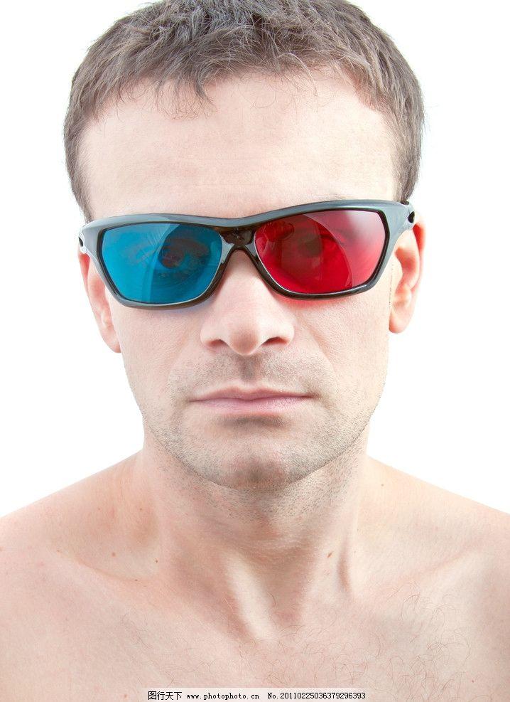 3d眼镜人物图片