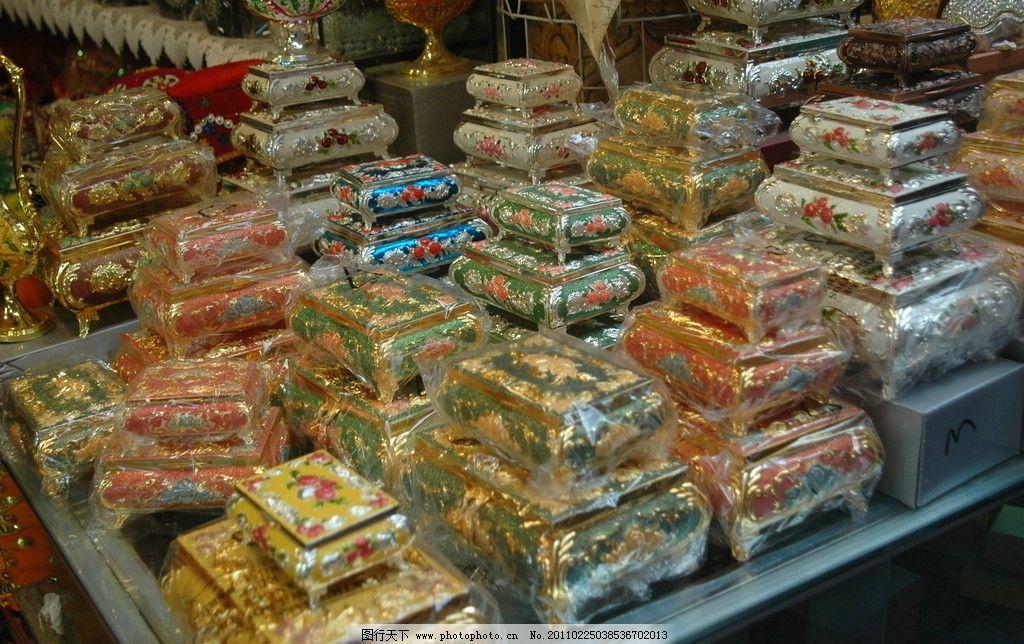 维吾尔族手工艺 手工装饰盒 珠绣 传统文化 文化艺术 摄影 300dpi jpg