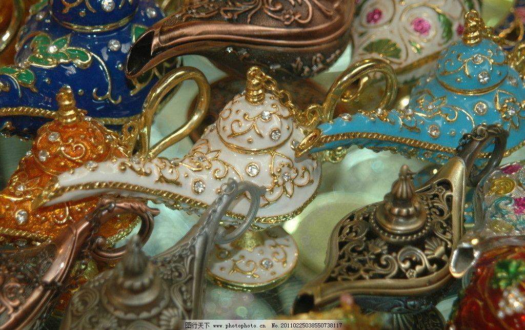 维吾尔族手工艺 珠绣 彩珠茶壶 茶壶 传统文化 文化艺术 摄影 300dpi