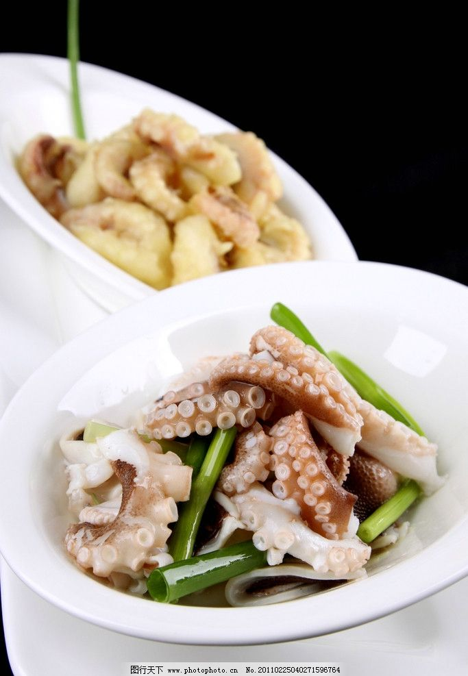 葱拌八带 凉菜 海鲜 传统美食 餐饮美食 摄影