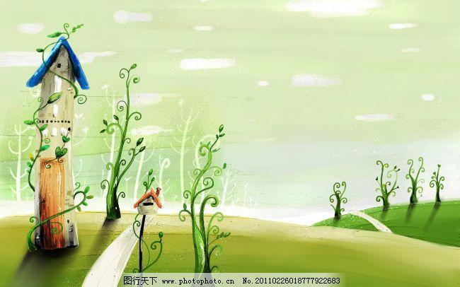 风景漫画 风景漫画免费下载 卡通 图片效果 展板 图片素材 卡通动漫
