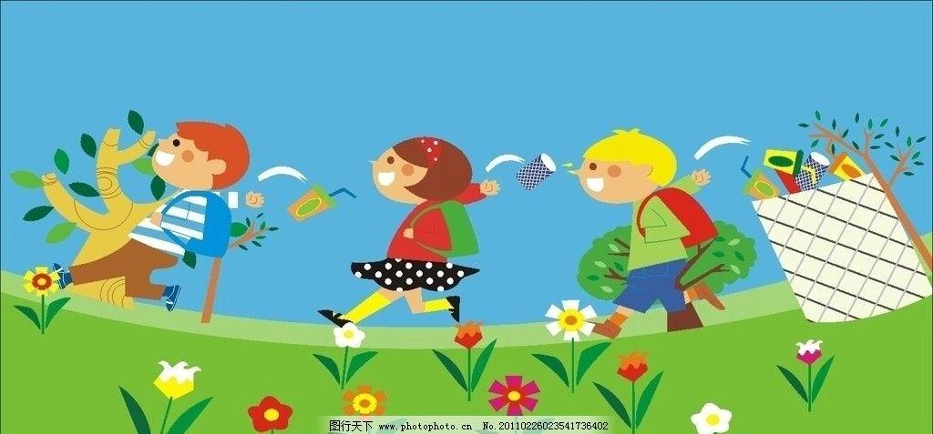 儿童生态环境手绘图图片