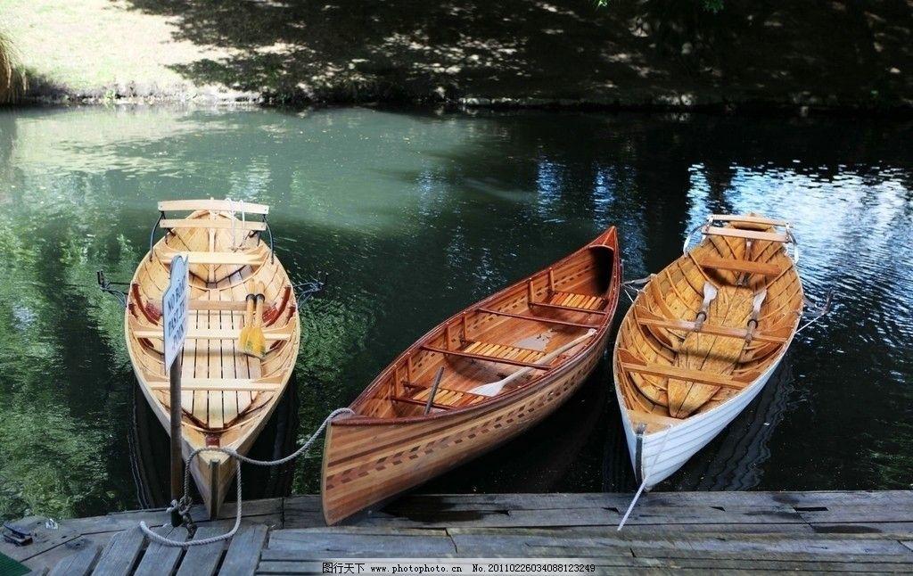 基督城 新西兰 花园城市 艾芳河 小船 船桨 河水 倒影 风景