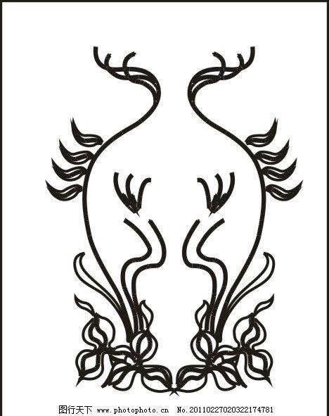 描 花边底纹 竹子 山水画 花边 底纹 山水风景 自然风景 古典 欧式-青