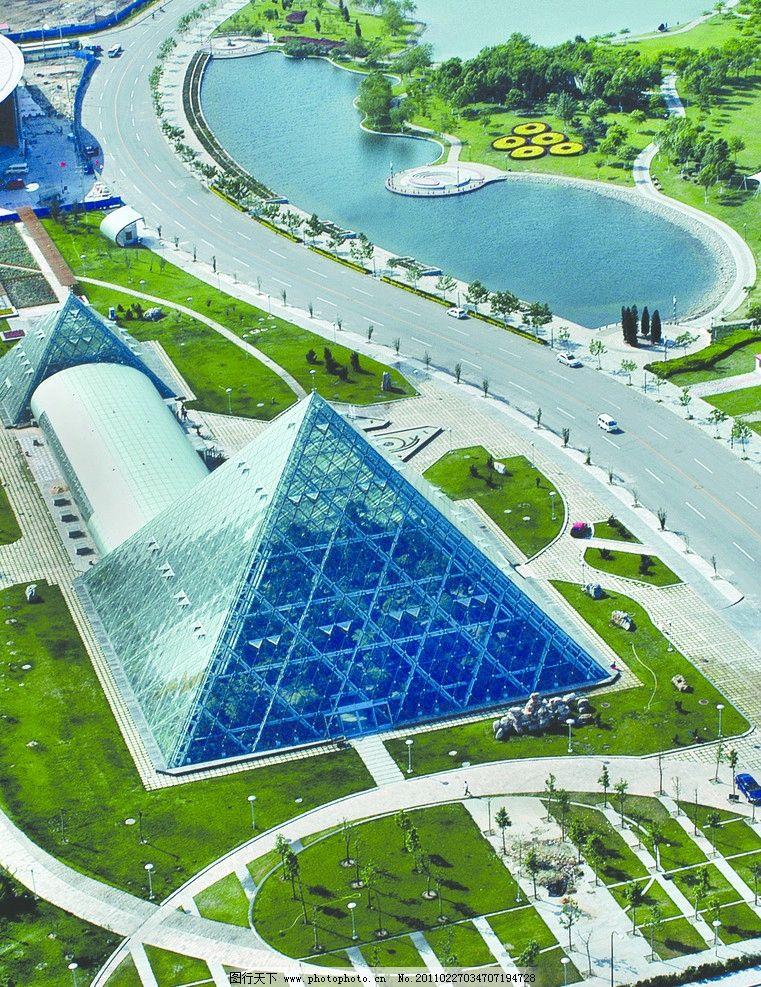天津泰达热带植物园航拍 天津开发区 teda 滨海新区 泰达 热带植物园