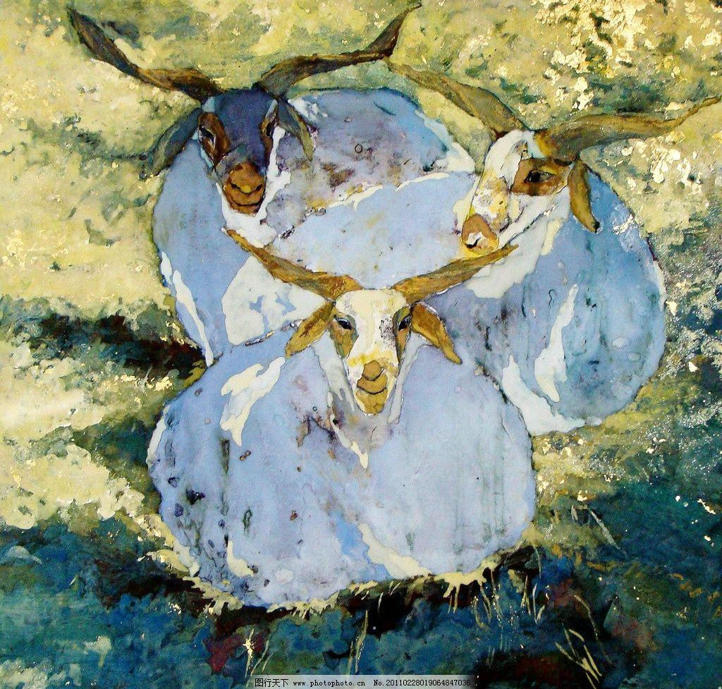 现代油画 动物画