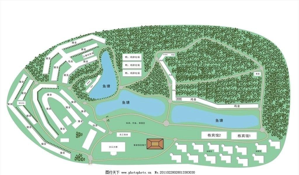 城市规划图 树 黄金叶 地区图 农场 养猪场 渔塘 养殖场 农场结构图
