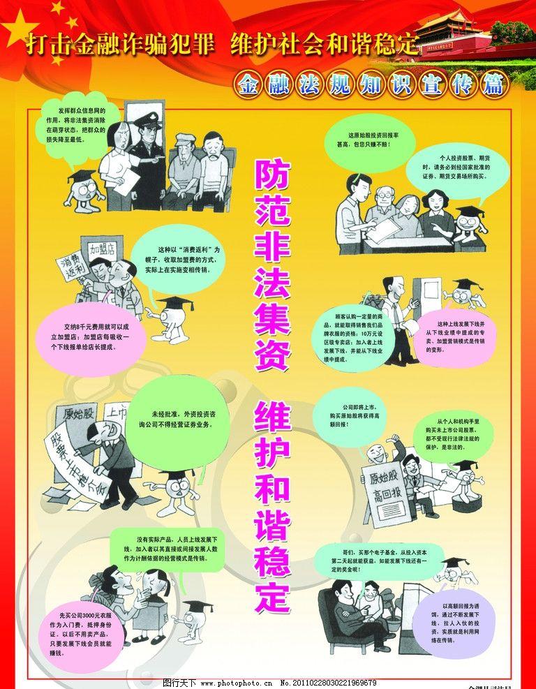 金融法规知识宣传展板图片