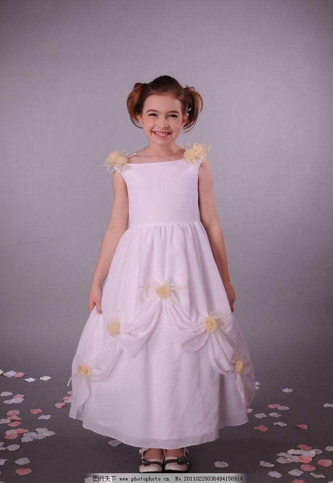 儿童婚纱图片