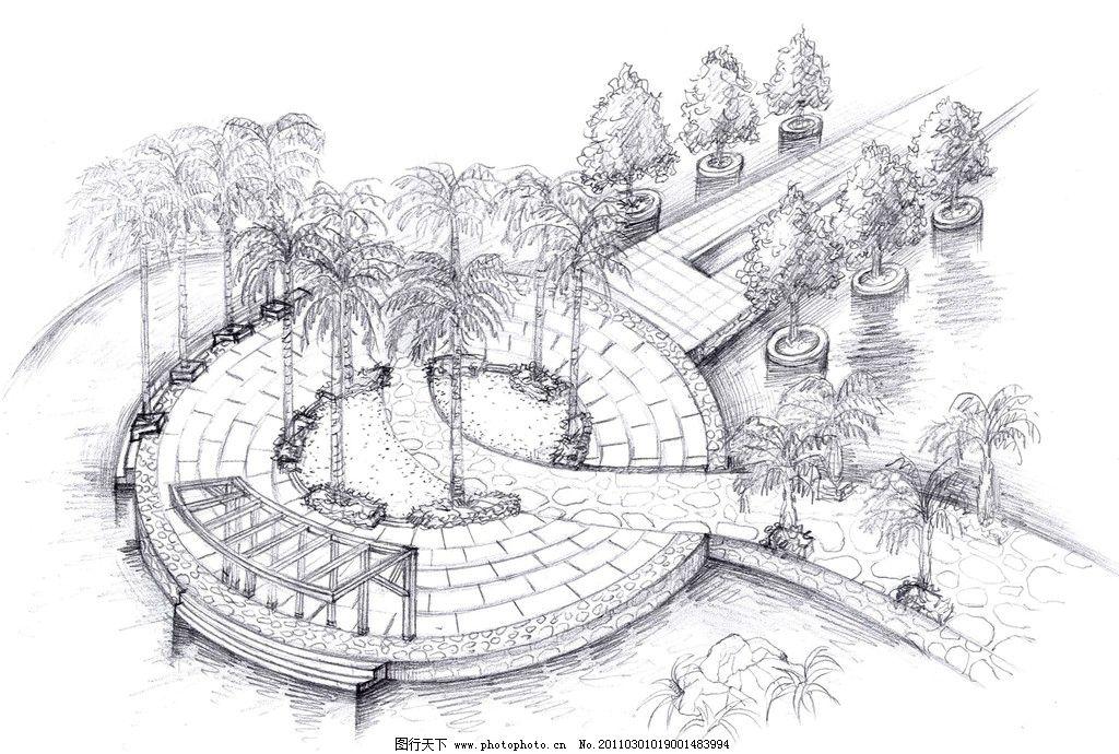 景观手绘图片_绘画书法