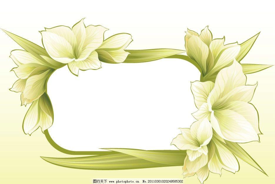 春天鲜花花纹花边花朵边框图片