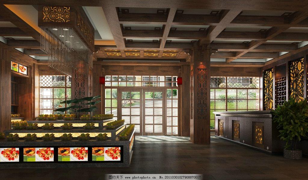 酒店前台设计效果图图片_室内设计_环境设计_图行天下