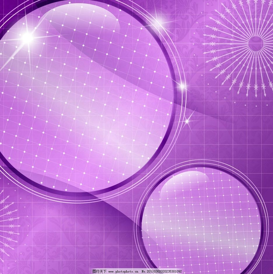 紫色浪漫古典花纹动感星光边框图片