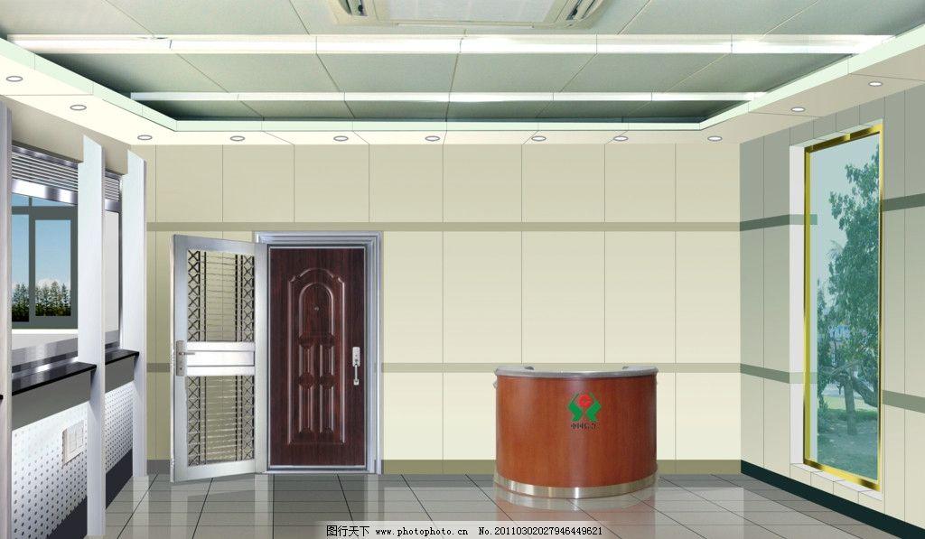 景观 室内设计 环境设计 设计 透视 地面 铺装 服务台 收银台