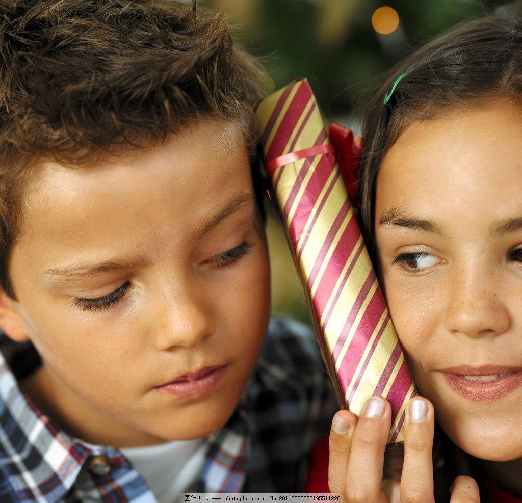 兄妹 姐弟图片,小男孩 小女孩 国外小男孩 礼物 外国
