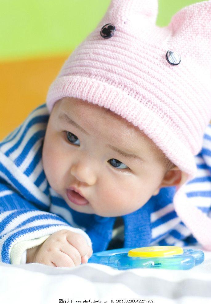 可爱宝宝 宝宝 可爱 蓝色毛衣