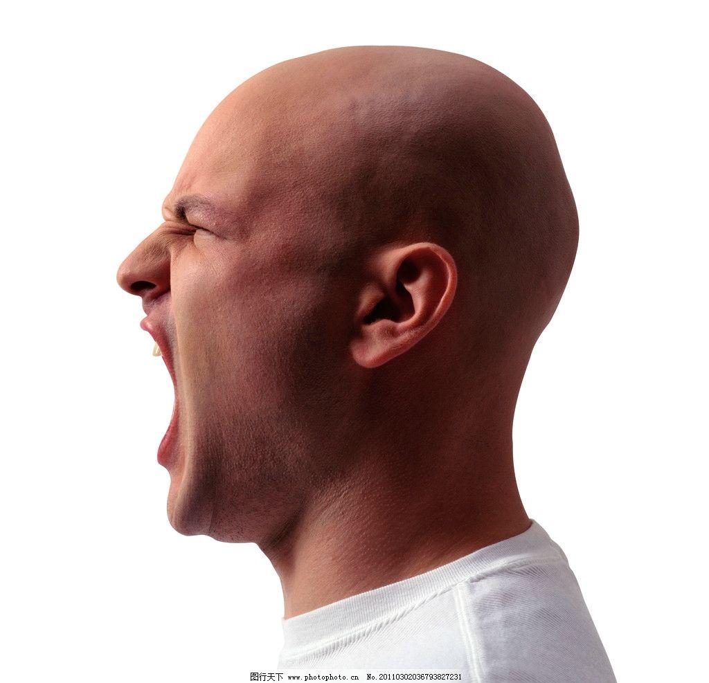 大嘴巴 大喊 愤怒 设计素材 男性男人 人物图库 摄影