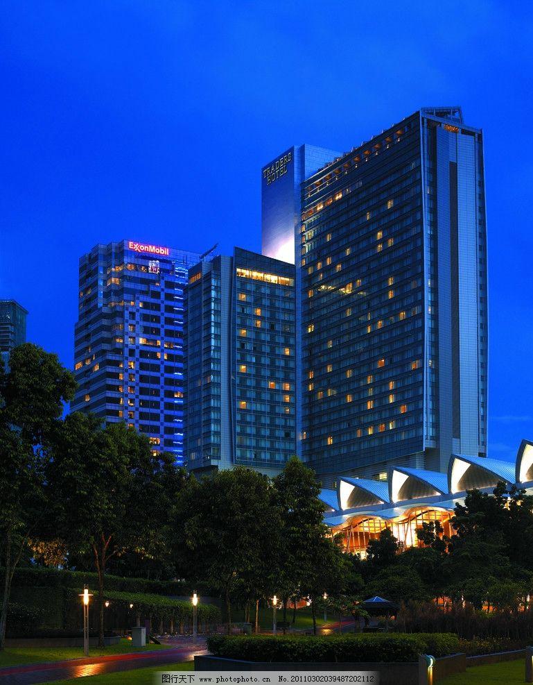 城市 高楼大厦 酒店设计 五星级酒店 香格里拉酒店 窗户贴图 酒店夜景