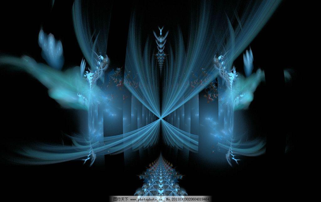 艺术灵感 分形几何 抽象底纹 创意图案 背景 神秘 青色 底纹边框 设计