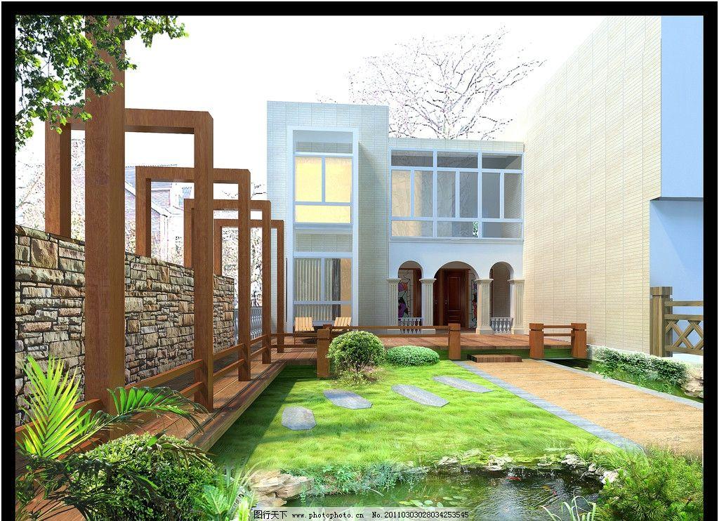 别墅花园景观图片