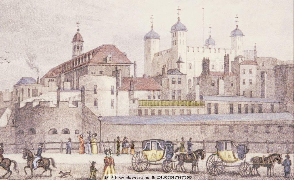 西欧建筑手绘临摹