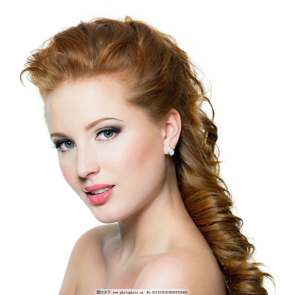 女孩 欧美女性 国外美女 女人 美女 发廊 理发 少女 妆容 妆面 性感