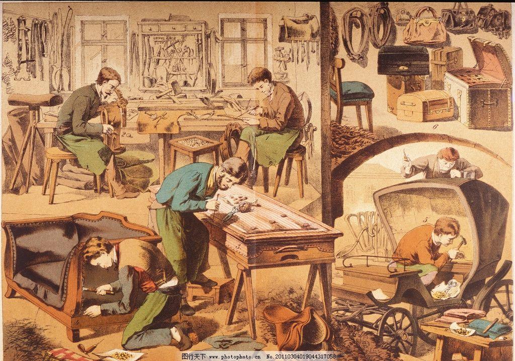 手绘木工图片