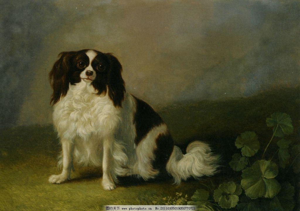 可爱的小狗 世界名画 西洋油画 欧美油画 印象派 野兽派 点彩派 人物