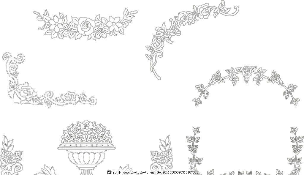 花矢量图 矢量玫瑰花图案 玻璃 底纹 边框矢量图 花纹花边 底纹边框