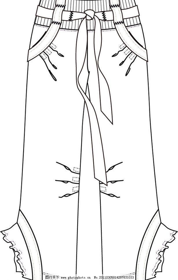 欧美服装设计矢量图图片