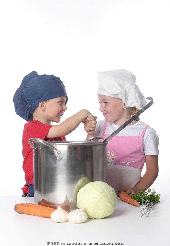 摄影图库 人物图库 人物摄影  可爱的小厨师 小厨师 可爱 调皮 玩耍