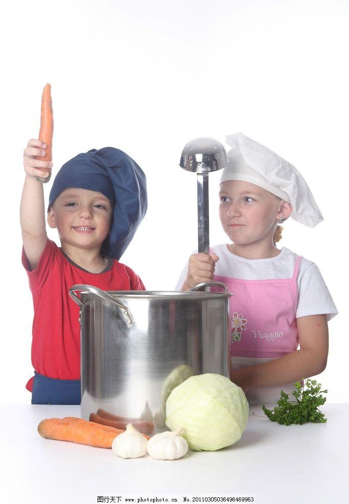 小厨师 小孩 宝宝 幼儿 宝贝 娃娃 孩子 小男孩 小厨师高清图片 可爱