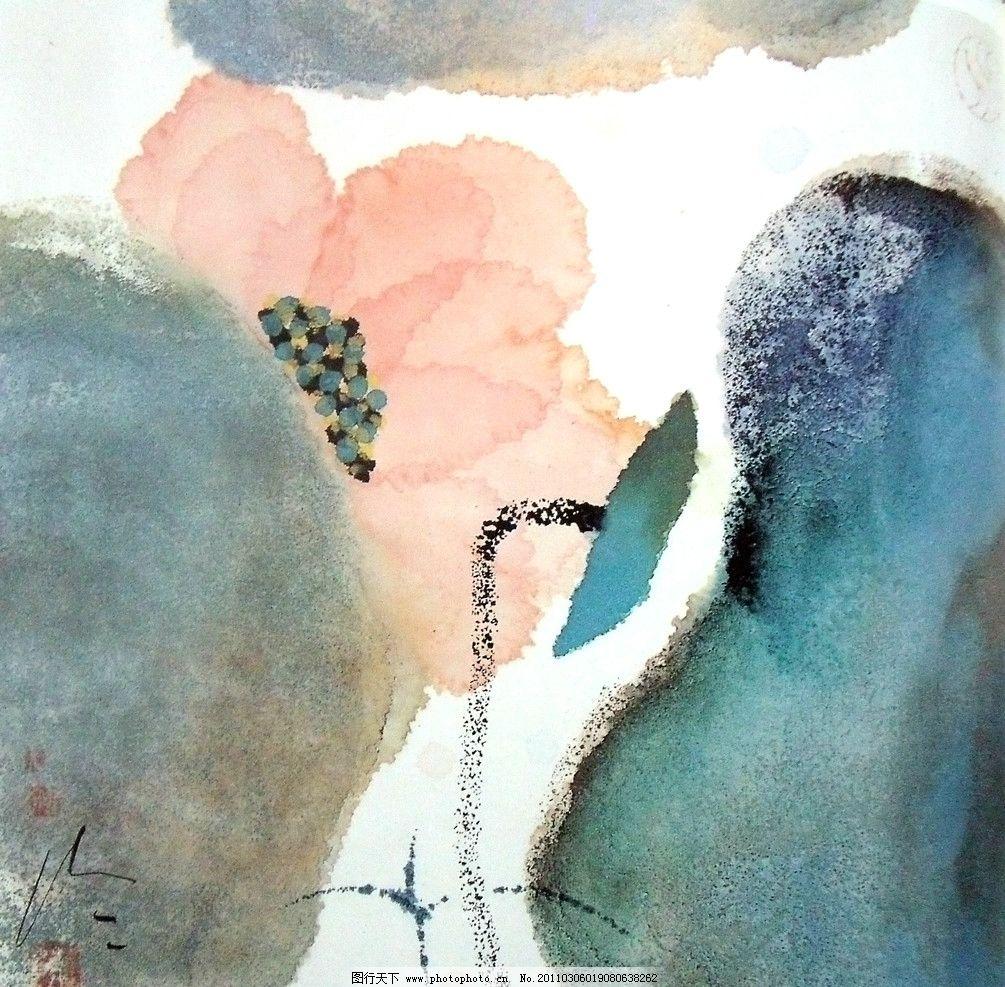 色墨渲染 写意绘画 大气背景素材 美术国画 水墨画 彩墨画 国画抽象