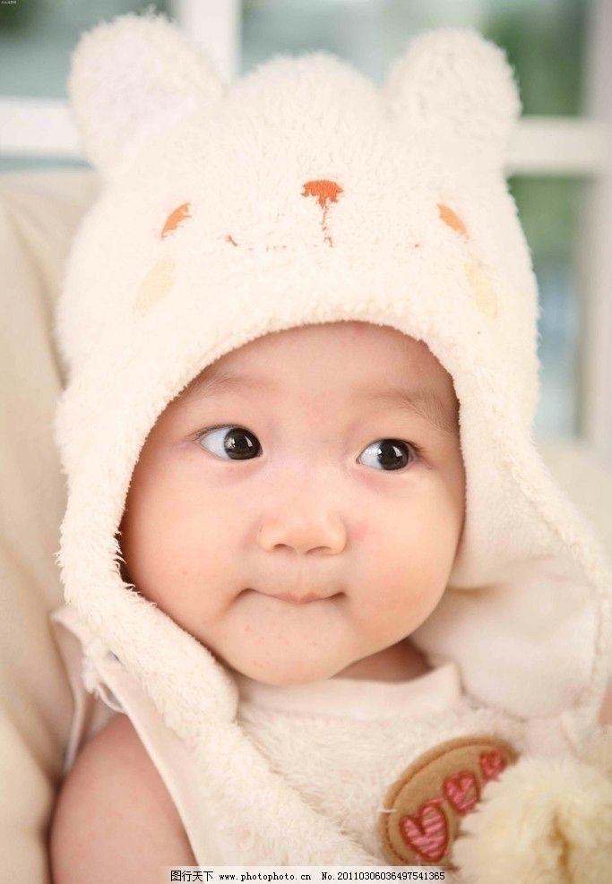 可爱宝宝 女宝宝 小女孩 女童 儿童 胖乎乎 兔头帽 可爱小脸